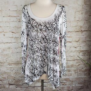 Anthropologie Butterfly Dropout Print Tunic L EUC
